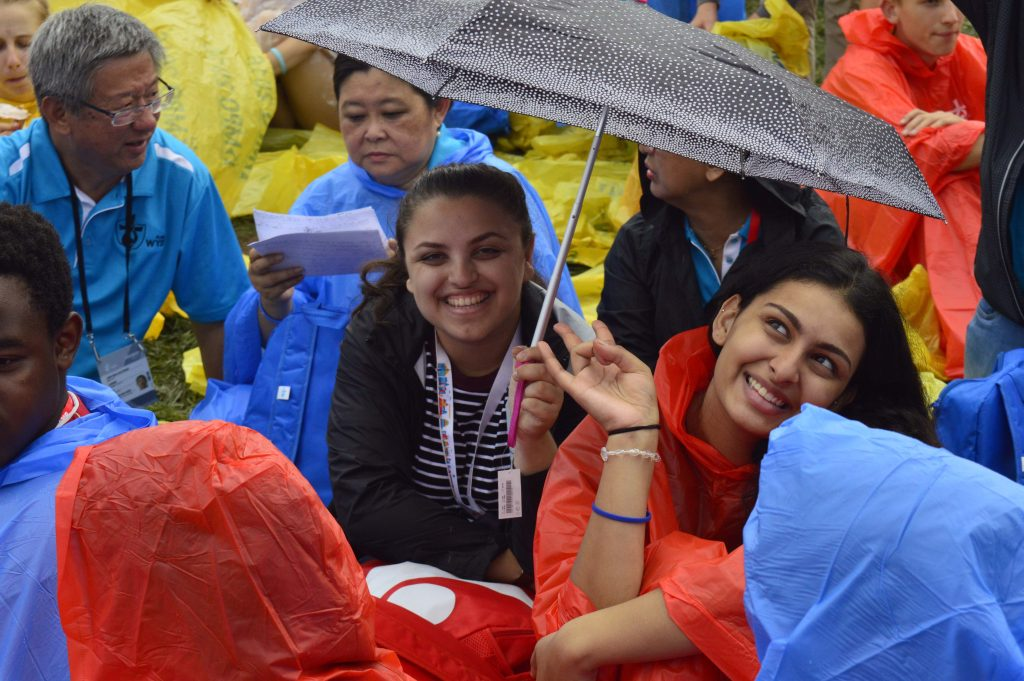 Monique Loos, right, said it was the sheer scale of World Youth Day that made the biggest impact on her. Photo: Feby Plando