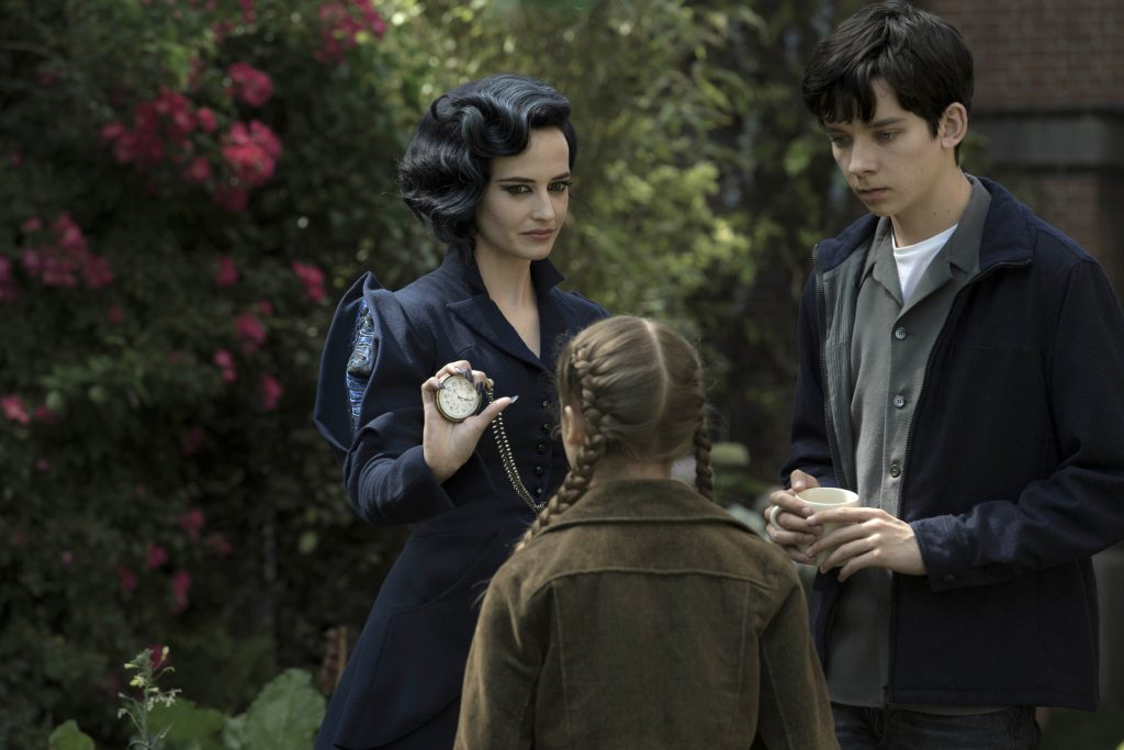 Eva Green, Asa Butterfield and Georgia Pemberton star in a scene from the movie Miss Peregrine's Home for Peculiar Children. Photo: CNS/Fox