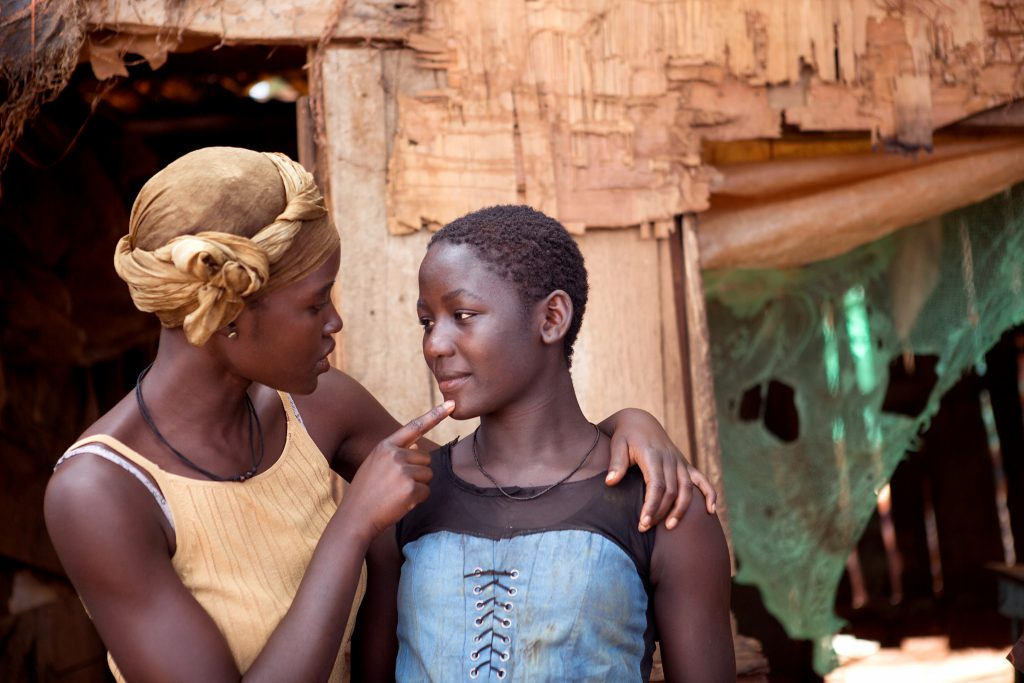 Lupita Nyong'o and Madina Nalwanga star in a scene from the movie Queen of Katwe. Photo: CNS/Disney
