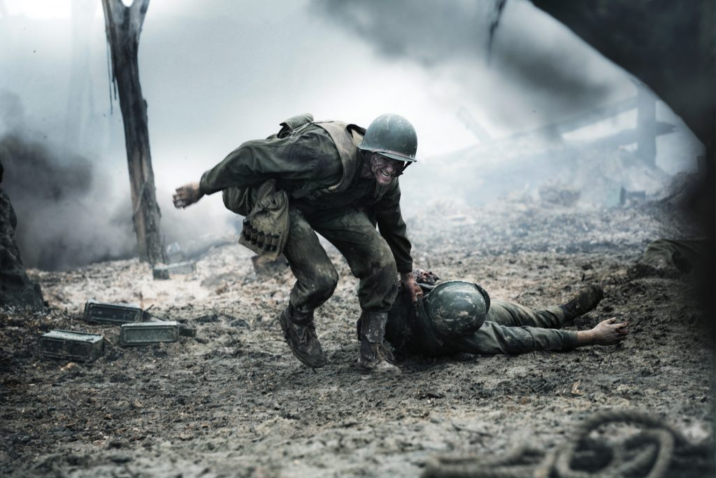 Andrew Garfield stars in a scene from the movie Hacksaw Ridge. Photo: CNS/Cross Creek Pictures
