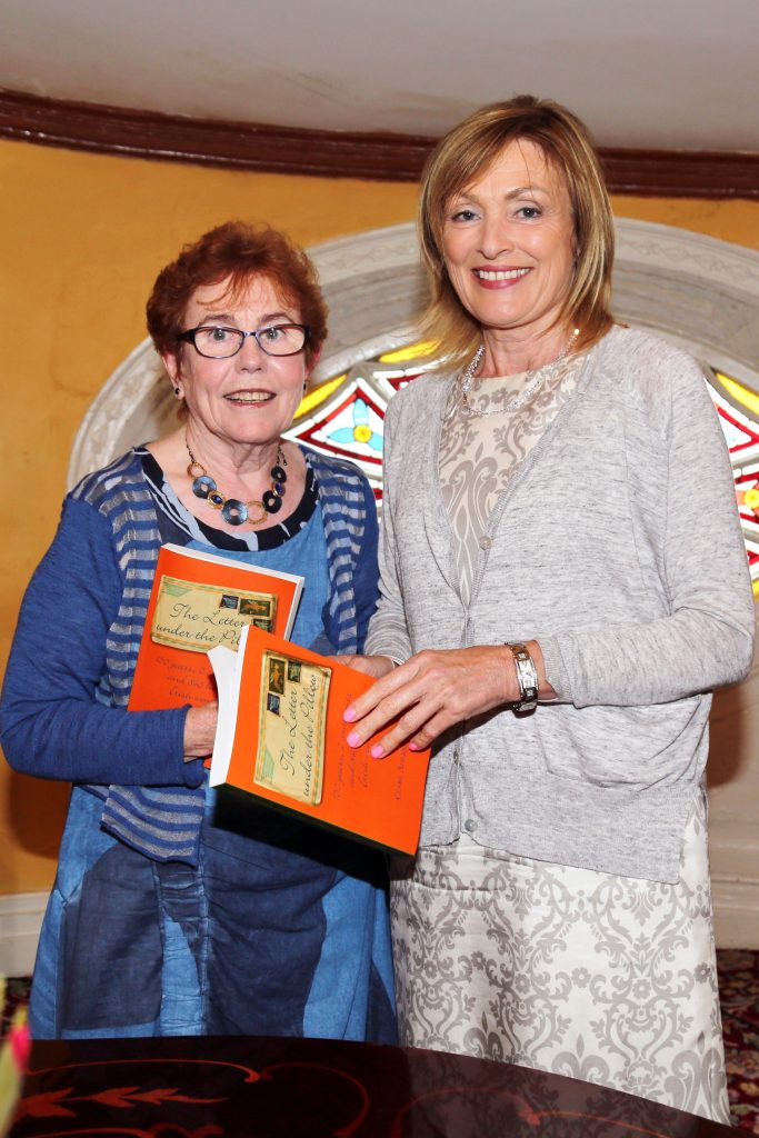 Author of The Letter under the Pillow, Sister Clare Aherne, with RTE television presenter Mary Kennedy. Photo: Supplied
