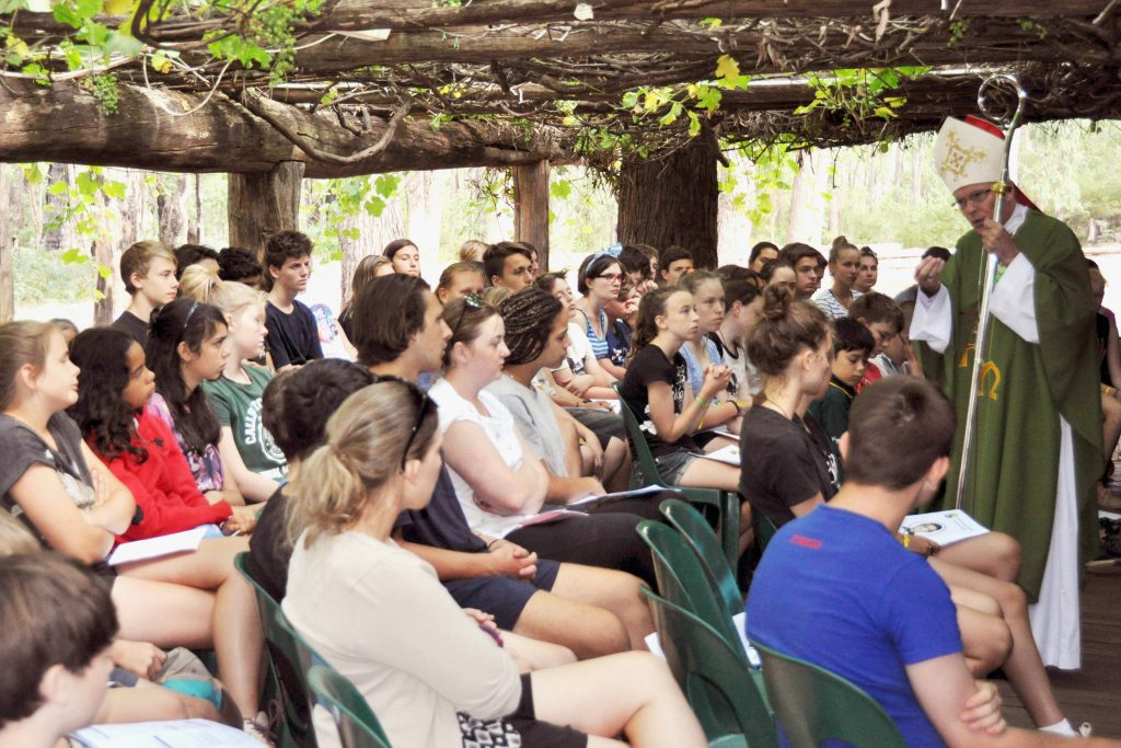 More than 100 young people descended on Nanga Bush Camp in Dwellingup recently for a week of sport, outdoor activities, reflection and Mass, as part of the WA Young Salesians' Summer Camp. Photo: Supplied