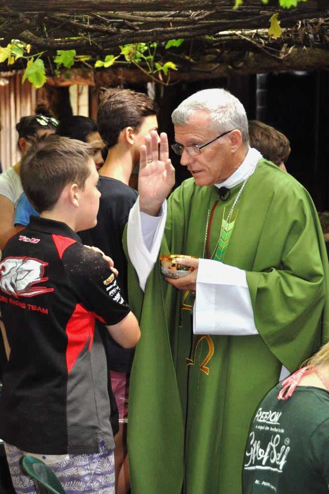 Archbishop Timothy Costelloe SDB celebrated Mass at the WA Young Salesians Summer Camp, which recorded its largest numbers for an individual camp, with more than 100 young people in attendance. Photo: Supplied