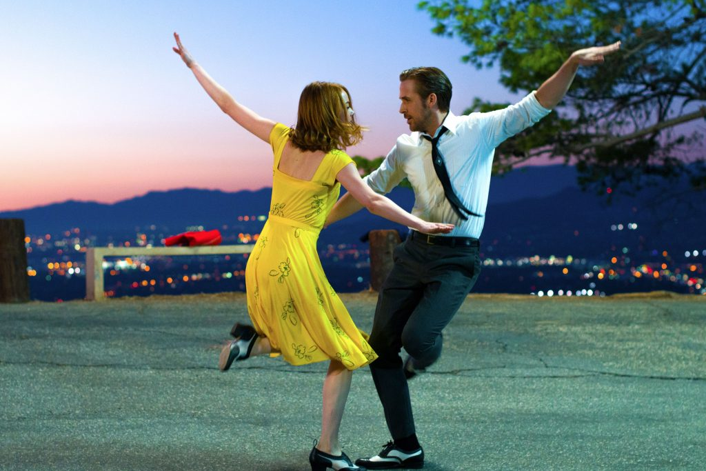 Emma Stone and Ryan Gosling are mesmerising as star crossed lovers Mia and Sebastian in La La Land. Photo: Supplied