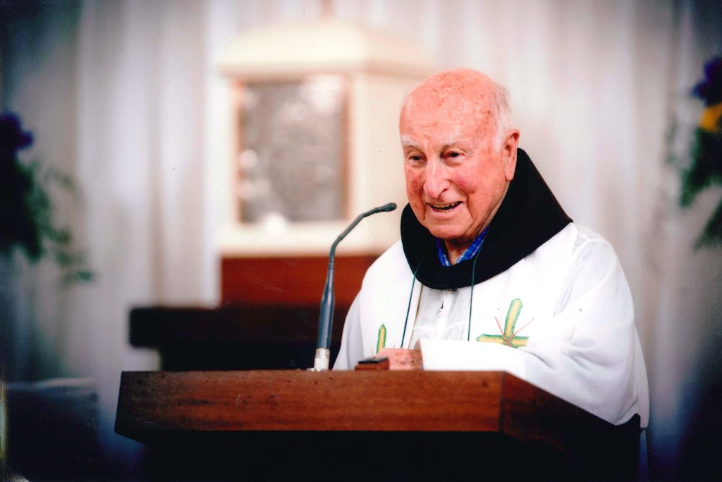 Father Michael John Brown OFM passed away on 31 December, 2016 at the age of 94, in the 67th year of his religious profession and the 61st year of his priestly ordination. Photo: Supplied
