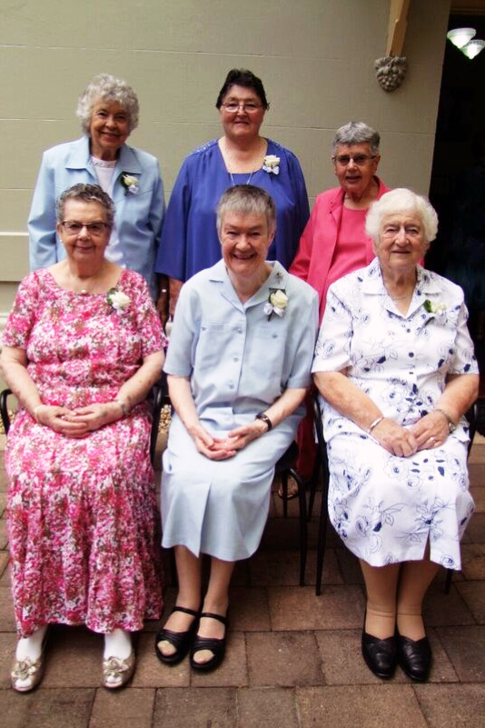 Sisters from the CentreWest region - which includes Western Australia and South Australia – who celebrated their Diamond Jubilee in January. Back row: Sisters Margaret Kane, Leonie Mayne, Margaret Tully. Front row: Sisters Diane Kingston, Marita Greenwell, Philomena Kalmund. Photo: Supplied