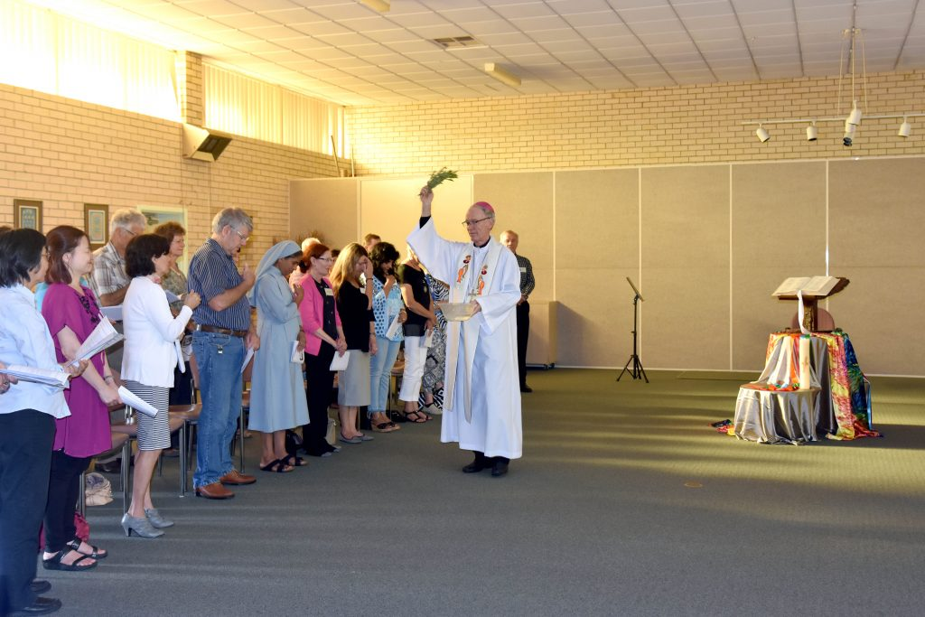 Perth Auxiliary Bishop Donald Sproxton blesses congregants at this year's Missioning Celebration for Personal Advocacy Service. Photo: Caroline Smith