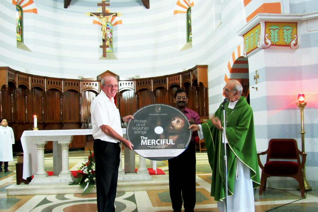 "The audio CD album ""The Merciful"" was launched on Sunday, 5 February at St Francis Xavier Cathedral in Geraldton by Bishop Justin Bianchini. Photo: Supplied"