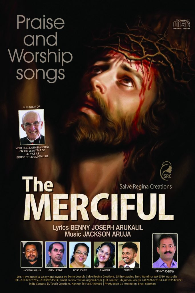 The promotional poster for the audio album, which was produced by Geraldton's St Francis Xavier Cathedral parishioner, Benny Joseph. Photo: Supplied