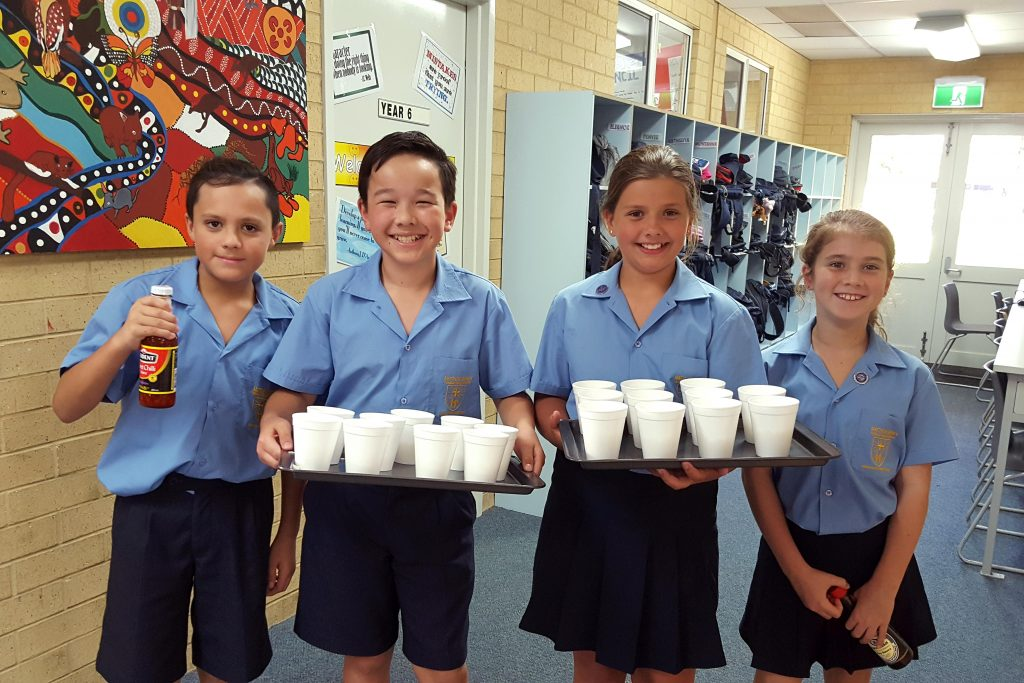 It was a special day for a group of year five and year six students from Matthew Gibney Primary School who were commissioned on 1 March into Mini Vinnies. Photo: Supplied