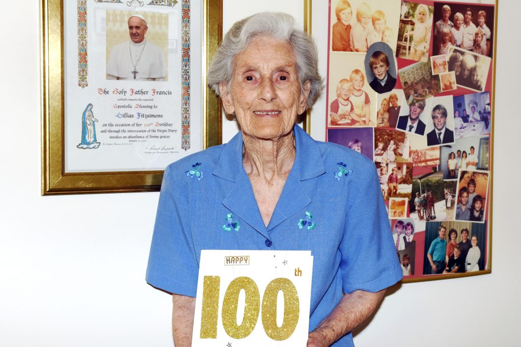 Much loved and spritely All Saint's Church, Greenwood parishioner, Lillian Fitzsimons turned 100 years young on January 22, this year. Photo: Natashya Fernandez