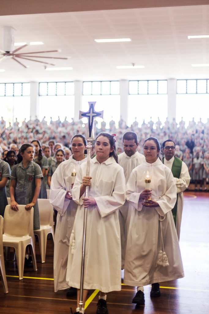 Forty-six students from Santa Maria College, along with one staff member, were commissioned as Extraordinary Ministers of the Eucharist. Photo: Supplied