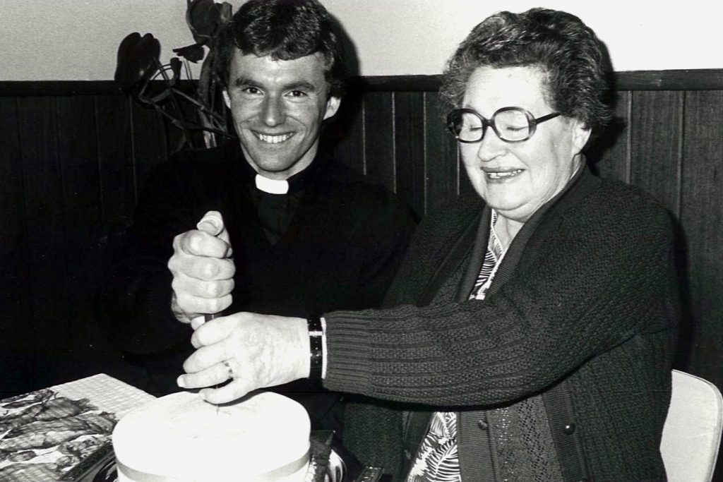 On the occasion of his Final Profession on 8 September, 1985, with his mother Carmel. Photo Supplied
