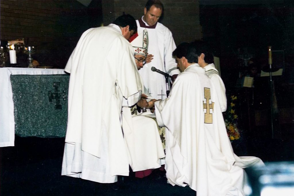 On the occasion of his ordination to the priesthood, 25 October 1986. Photo: Supplied