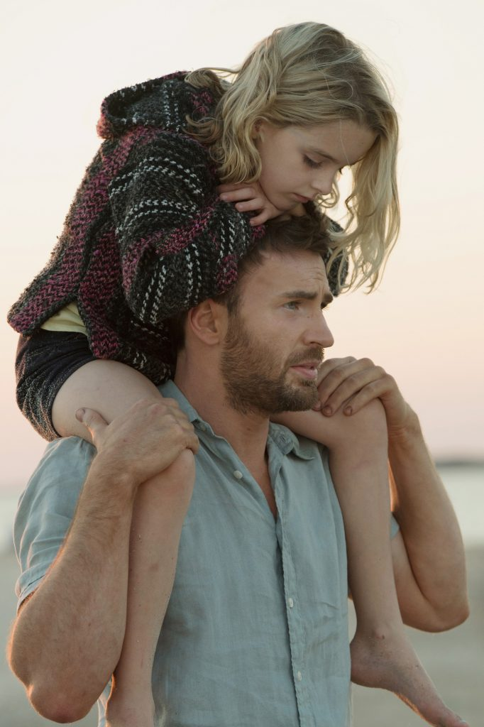 Mckenna Grace and Chris Evans star in a scene from the movie 'Gifted'. Photo: CNS/Fox