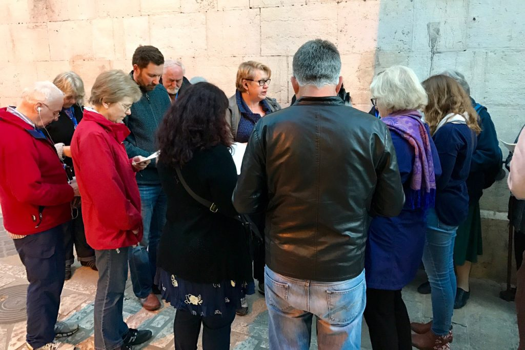 Tantur participants at the Stations of the Cross in Via Dolorosa on Good Friday. Photo: Gemma Thompson