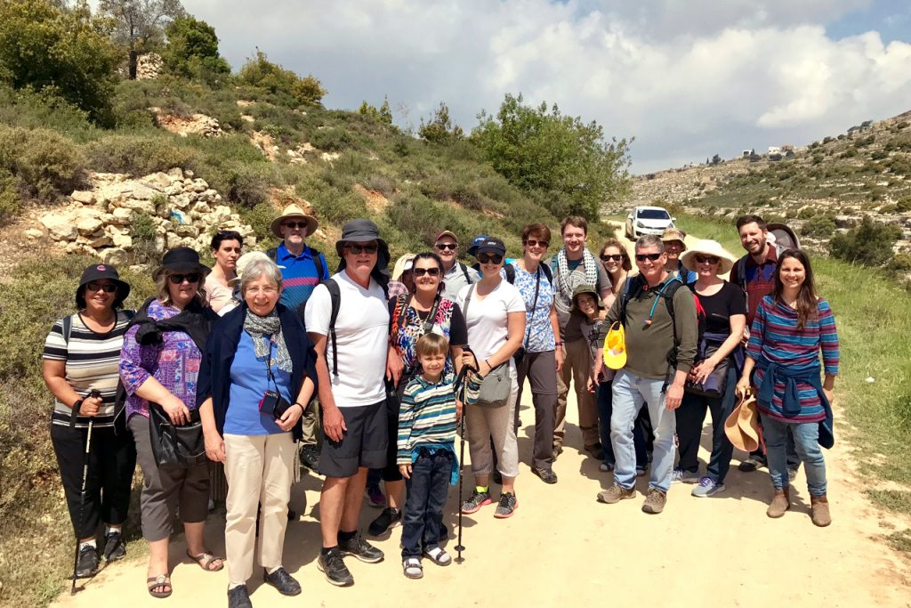 Tantur participants after a hike in Beit Jala natureland. Photo: Gemma Thompson