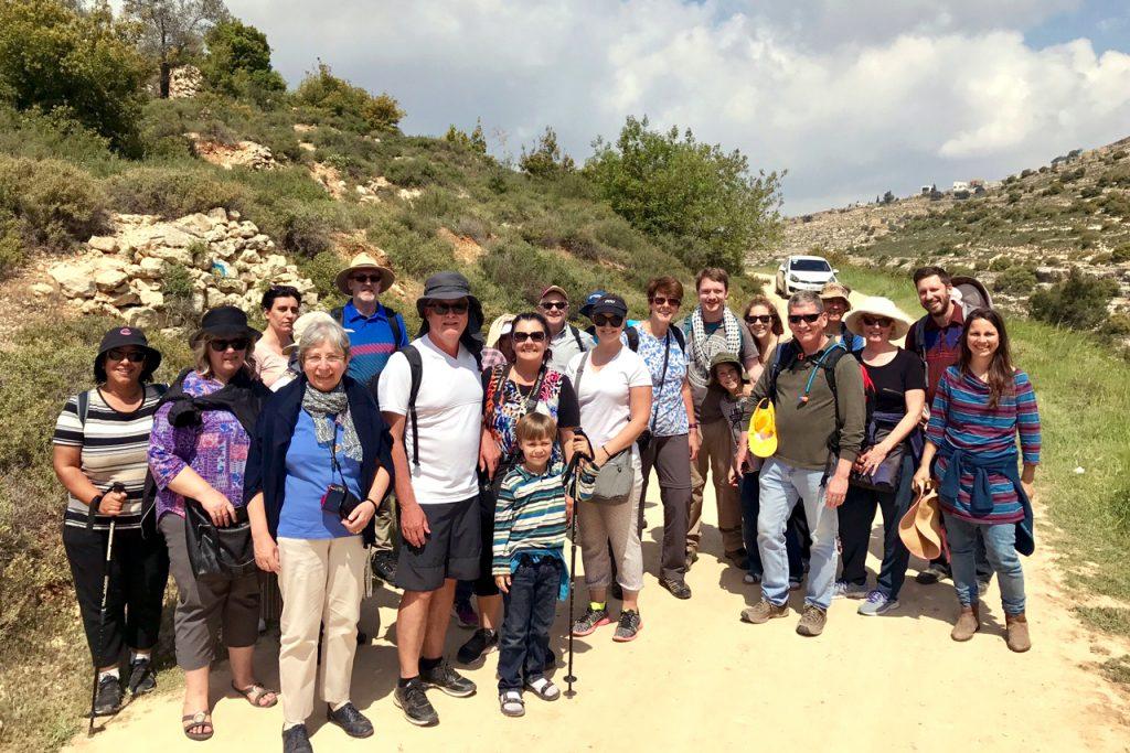 Tantur participants after a hike in Beit Jala natureland. Photo: Gemma Thompson