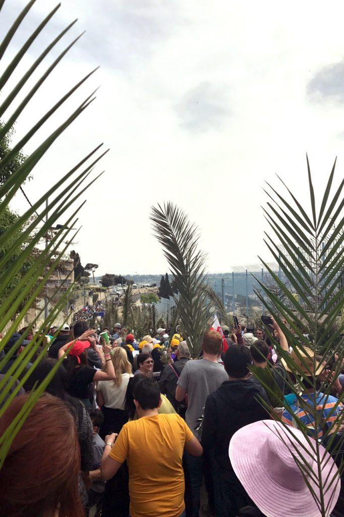 The Palm Sunday procession. Photo: Gemma Thompson