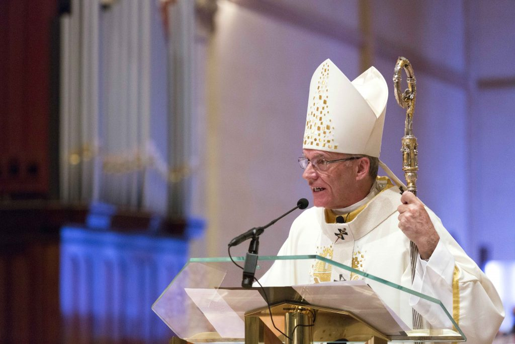 Archbishop Costelloe emphasised the importance the role of Priests in bringing alive the empowering presence of the Lord in a particular and sacramentally powerful way. Photo: Ron Tan