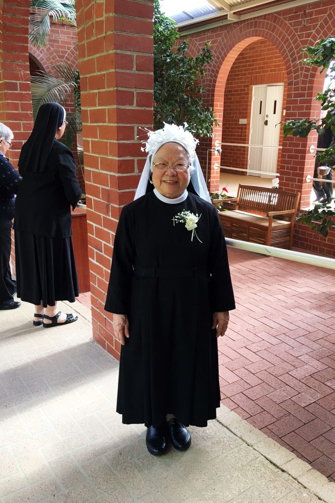 Sr Therese made her final profession at Banksia Grove Parish on Friday 12 May, with her motto for her profession; 'Thanks be to God for his indescribable gift.' (2 Cor 9:15) Photo: Supplied.