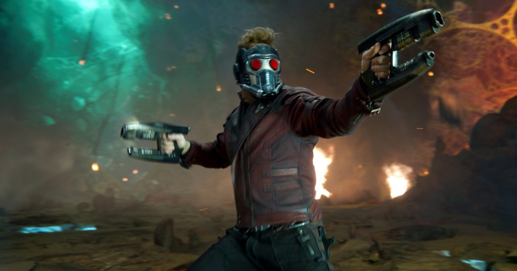 Chris Pratt stars in a scene from the movie Guardians of the Galaxy Vol. 2. Photo CNS/Marvel Studios.
