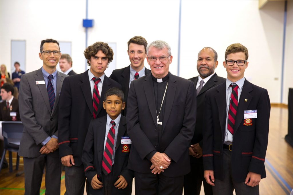 Archbishop Costelloe with some of the attendees from this year's Forum for Secondary Schools. Photo: Ron Tan