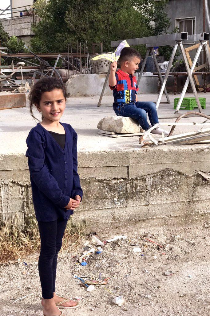 Refugee children at AIDA Refugee Camp in Bethlehem. Photo: Gemma Thomson.