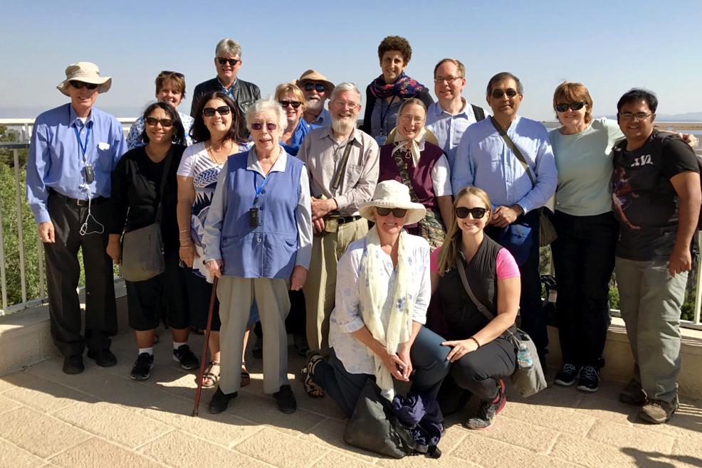 Tantur Pilgrim Group at Mount of Beatitudes. Photo: Gemma Thomson.