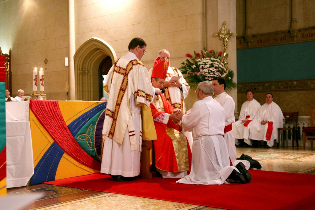 Deacon Ivan Joseph Sands was ordained on the feast of St Peter and Paul on 29 June, 2006 at St Mary's Cathedral, Perth along with 13 others. Photo: Jamie O'Brien.