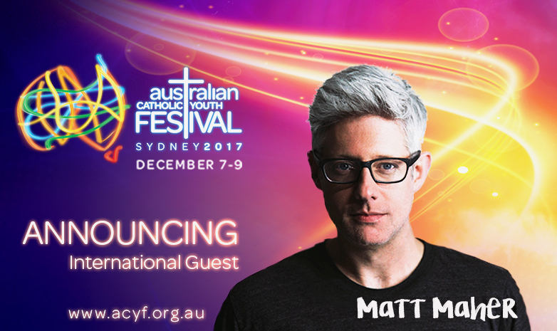 Global contemporary Christian music megastar Matt Maher has confirmed he will be coming to Sydney for the 2017 ACYF Festival. Image: Supplied.