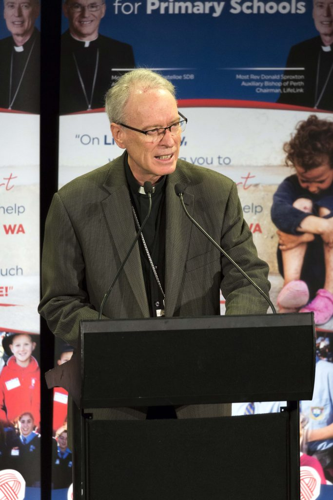 Bishop Don Sproxton highlighted the role of LifeLink agencies. Photo: Ron Tan.
