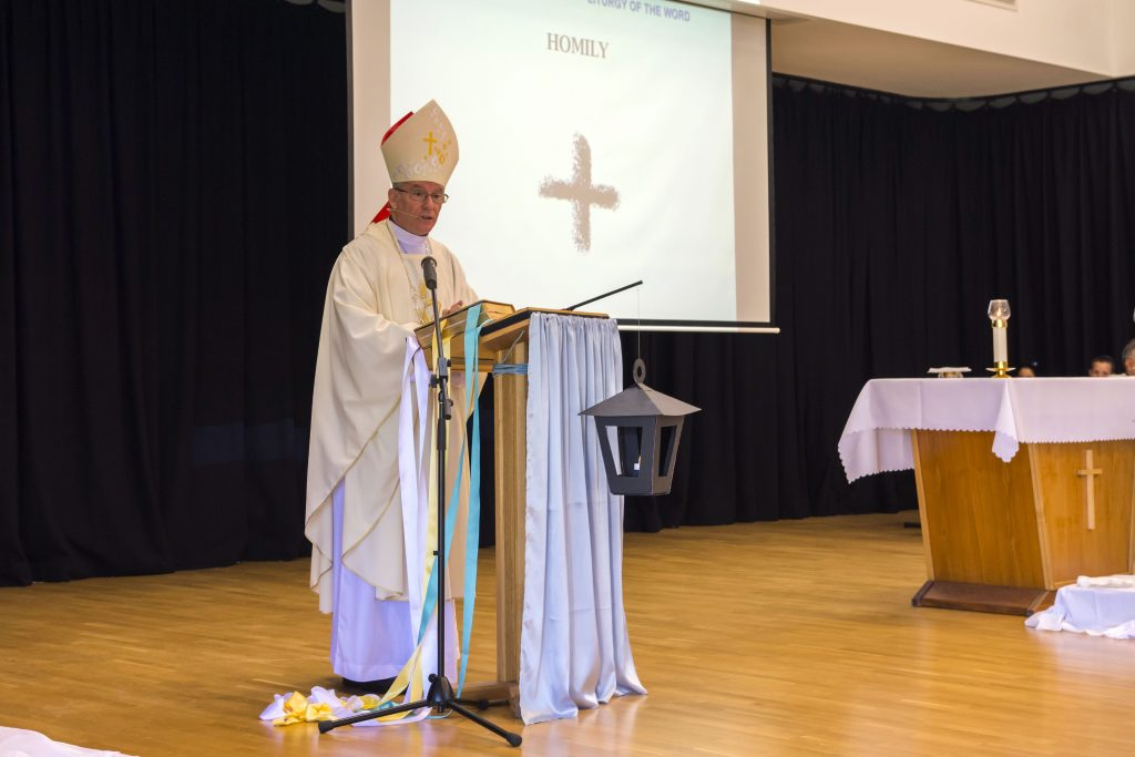 It was a poignant day for many present at Iona Presentation Primary School, in particular the Presentation Sisters who after 110 years are handing over their responsibility for the school to Perth Archbishop Timothy Costelloe SDB. Photo Natashya Fernandez.