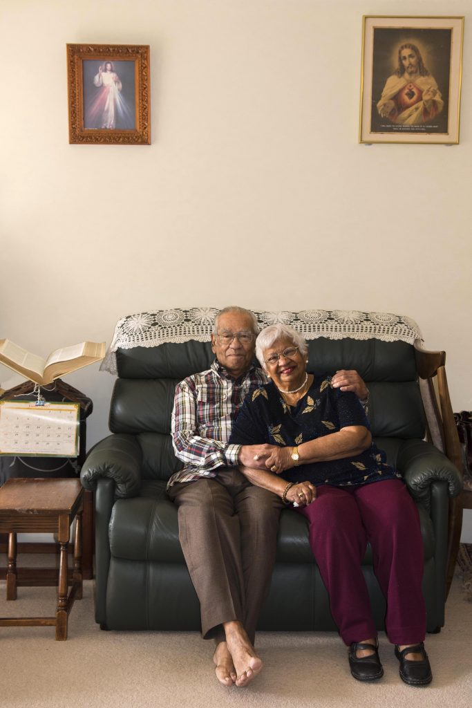 After 65 years of marriage, Perth couple Sid and Marie Gasper say there is one thing that has supported them during their time together, including the challenges of moving to a new country and raising children: the power of prayer. Photo: Caroline Smith.