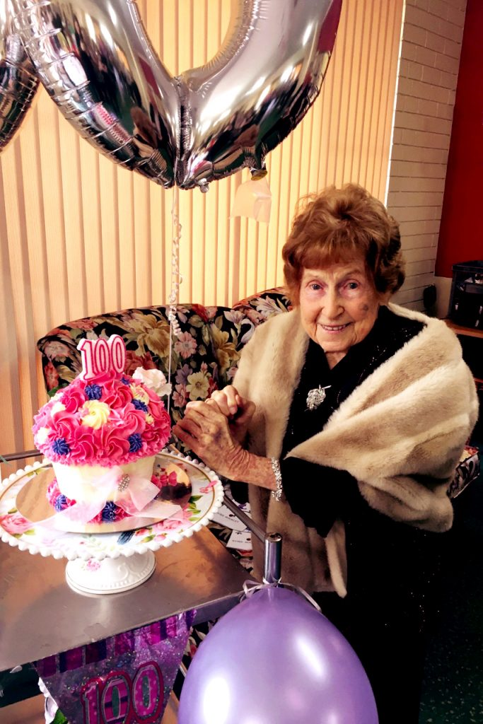 Mercy Place Edgewater resident Ivy Blundell will celebrate her 100th birthday on Friday 16 June surrounded by family and friends who say the centenarian was committed to others throughout her life and still has a wonderful heart. Photo: Supplied.