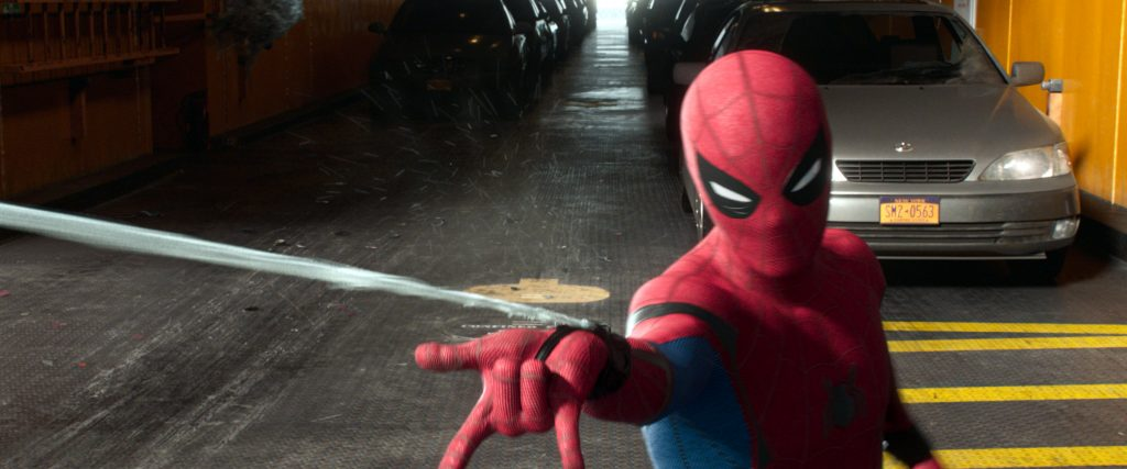 """Tom Holland as Spider-Man stars in a scene from the movie """"Spider-Man: Homecoming."""" Photo: CNS /Columbia Pictures."""