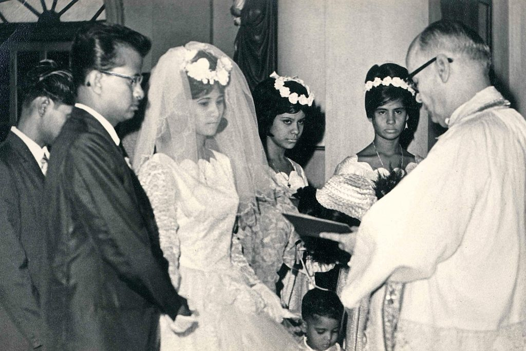 They were engaged in 1966 and married a year later on 10 June 1967 at St Francis Xavier Church in Kolkata. Photo: Supplied.