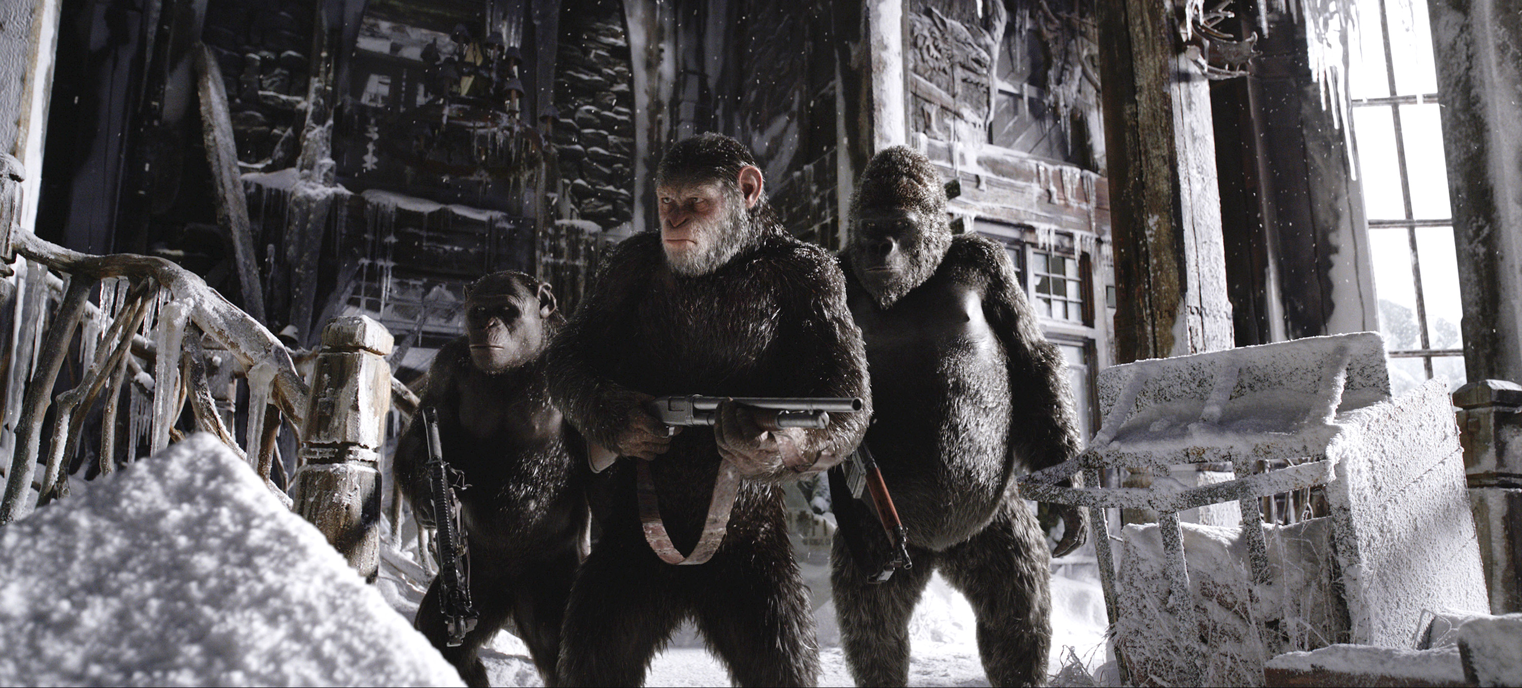 A scene from the movie War for the Planet of the Apes. Photo: CNS/Fox.