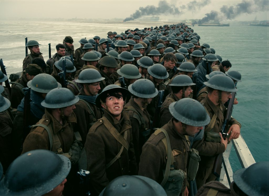 "Soldiers are shown in a scene from the movie ""Dunkirk."" Photo: CNS/Warner Bros."