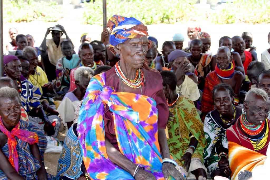 Mary Nakodas at an emergency food distribution centre of Lowdar town in northern Kenya. Photo: David O'Hare, Caritas.