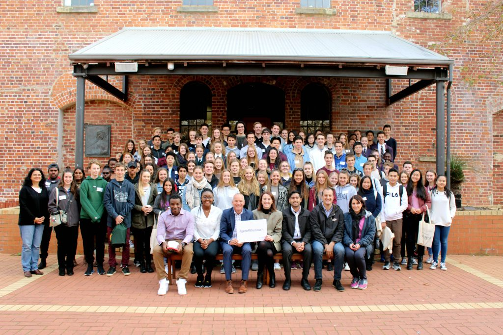 Students from across Western Australia last month took part in the second Catholic Youth Summit at the University of Notre Dame Australia (UNDA) Fremantle campus. Photo: Supplied.