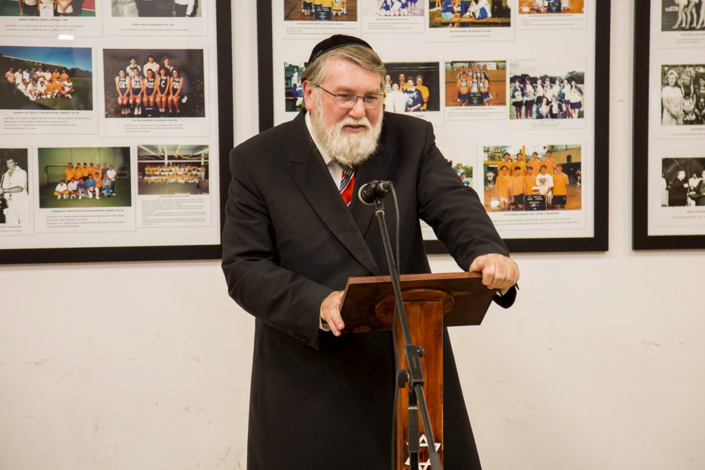 Rabbi Dovid Freilich from the Perth Hebrew Congregation gave an occasional address on Monday 19 June entitled, Religion – Tolerance or Respect? Photo: Jamie O'Brien.