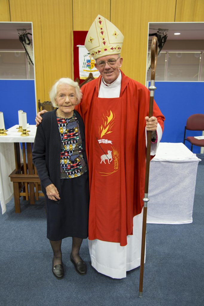New Geraldton Bishop the Most Rev Michael Morrissey with his Mum, Margaret, after his ordination as Bishop last Wednesday 28 June. Photo: Jamie O'Brien.