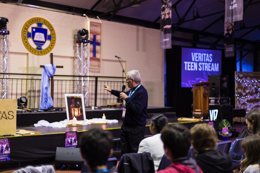 The Perth Archbishop called for the young people present to strive to live saintly lives, using Saints Francisco, Jacinta and Dominic Savio as examples to follow. Photo: F.I.O Photography.