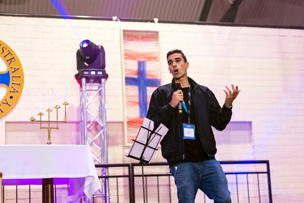 We are all called to be holy, it is not something that is set aside for people like Mother Teresa or Pope Francis, Joel Massad from Youth Ministry touched upon at his recent talk at Veritas Youth Festival over the weekend of 30 June to 2 July. Photo: Supplied.