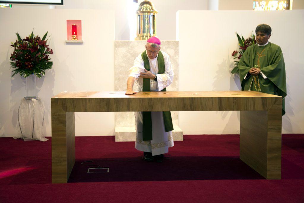 the record archbishop costelloe blesses scarborough parish church renovations. Black Bedroom Furniture Sets. Home Design Ideas