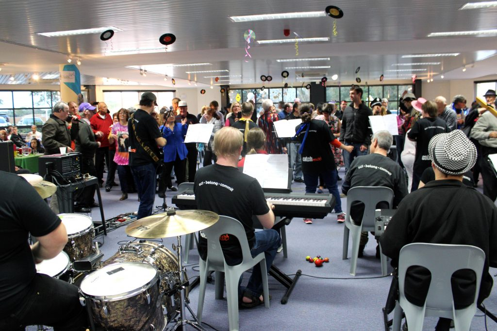Catch Music, local Leederville band entertained the group with their catchy tunes and encouraged everyone to get on the dance floor. Photo: Supplied.