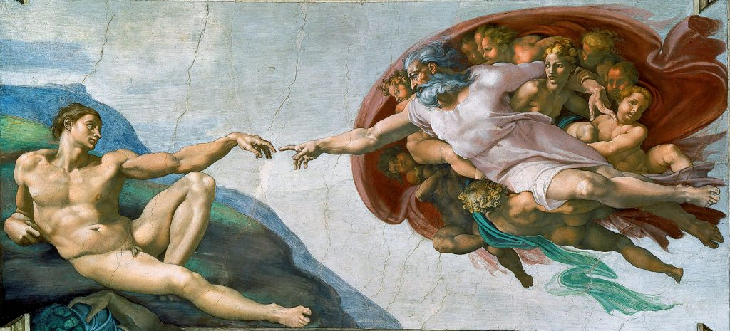 Michaelangelo's painting The Creation of Adam will feature in a new film exhibition. Photo: Supplied.