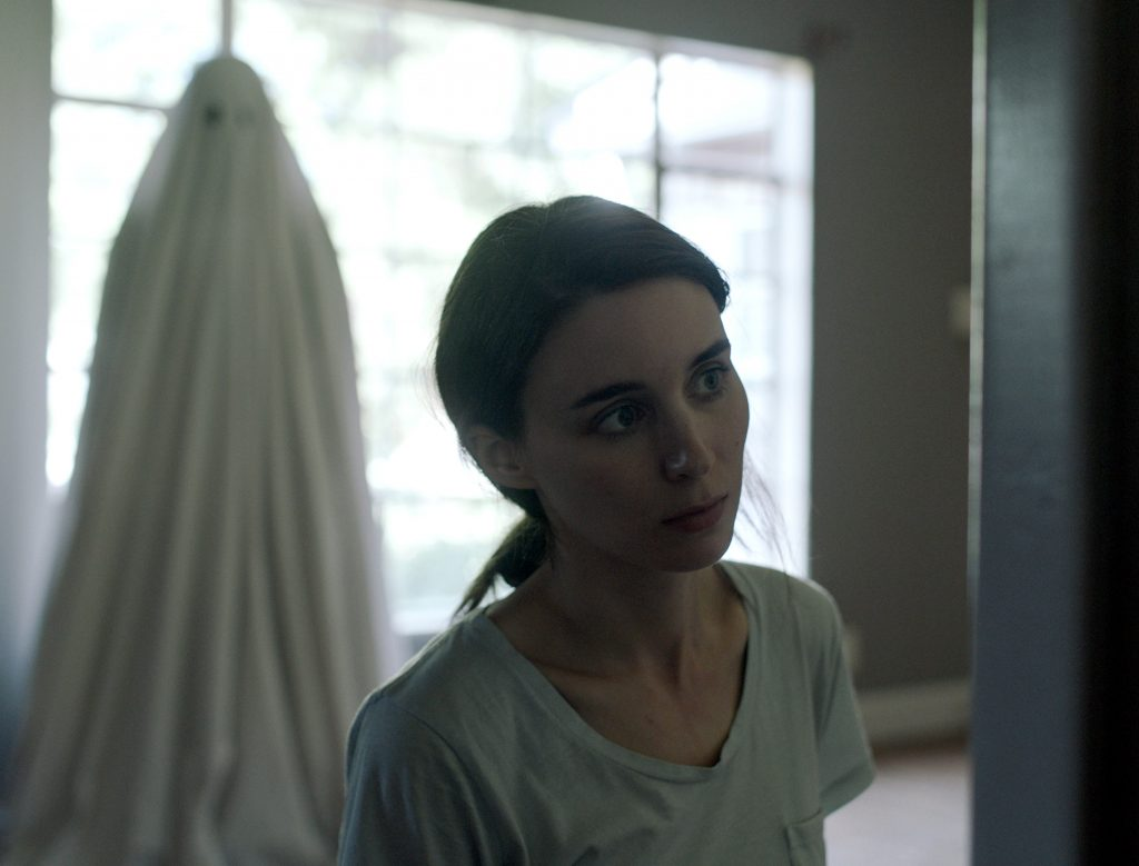 Rooney Mara stars in a scene from the movie A Ghost Story. Photo: CNS/A24.