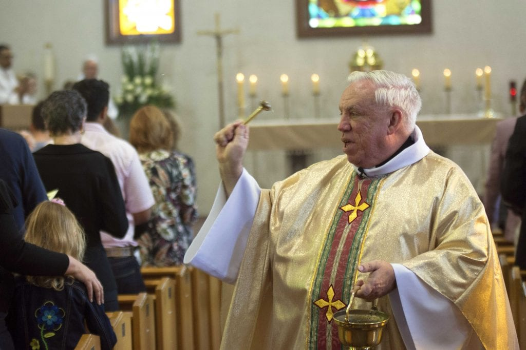 Fr Tim Deeter at the 60th anniversary celebrations of St Paul's Church last weekend. Photo: Josh Low.